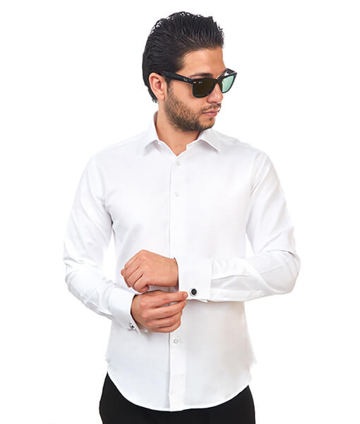 Tailored White Dress Shirt