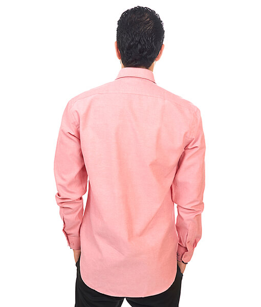 New Mens Dress Shirt Coral Tailored Slim Fit Wrinkle Free Cotton By Azar Man