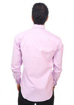 New Mens Dress Shirt Purple Lavender Tailored Slim Fit Wrinkle Free Cotton
