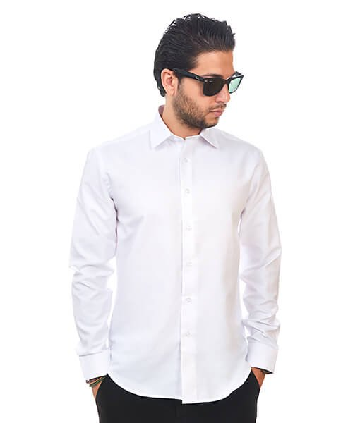 Tailored Slim Fit Wrinkle Free Cotton By Azar Man