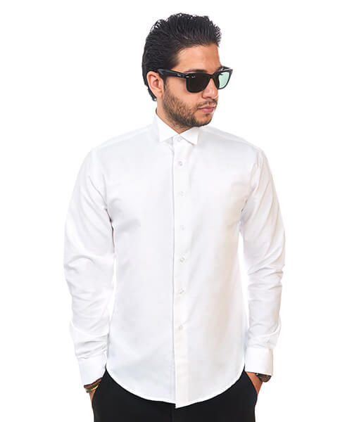 New Mens Dress Shirt White Tuxedo Wing Tip Tailored Slim Fit Wrinkle Free By Azar Man