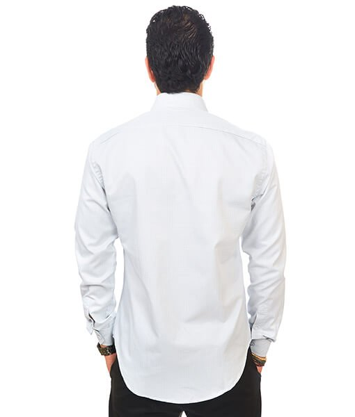 ae76ca17777 New Mens Dress Shirt Check White Tailored Slim Fit Wrinkle Free Cotton By  Azar Man