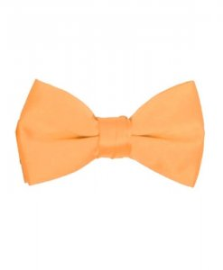 Azarman-Peach-Satin-Bowtie