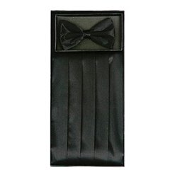 Black Cummerbund Set