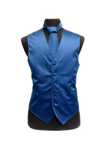Blue Saphire Satin Vest