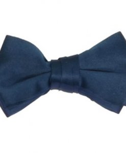 Blue Saphire Satin Bowtie