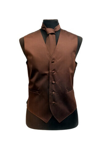 Brown Satin Vest