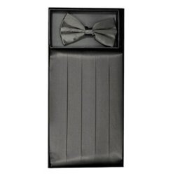 Charcoal Cummerbund Set