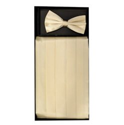 Cream Cummerbund Set