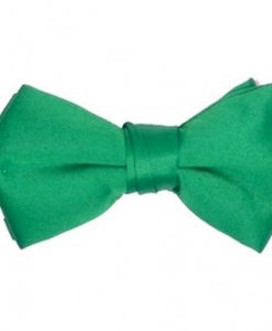 Emerald Green Satin Bowtie