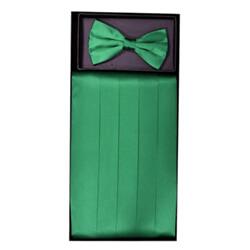 Emerald Green Cummerbund Set