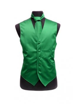 Emerald Satin Vest