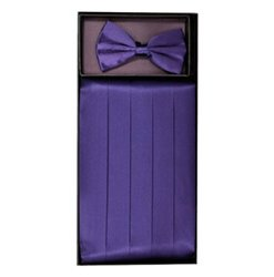 Grape Cummerbund Set