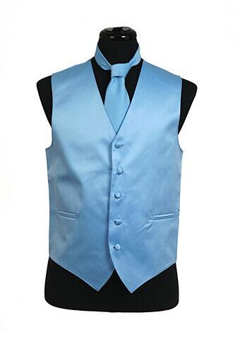 Light Blue Satin Vest