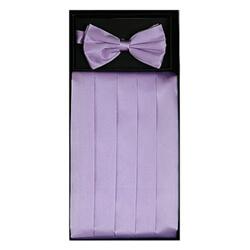 Lilac Cummerbund Set