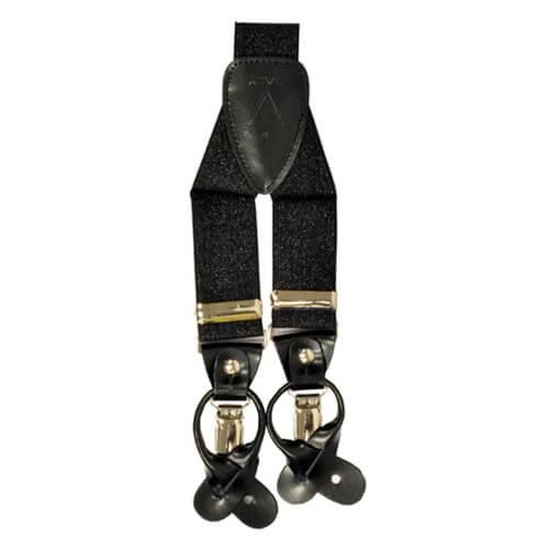Metallic Black Suspender