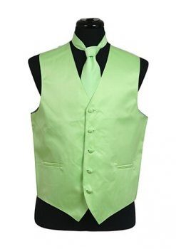 Mint Green Satin Vest