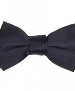 Navy Blue Satin Blowtie
