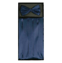 Navy Blue Cummerbund Set