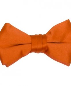 Orange Satin Bowtie