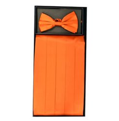 Orange Cummerbund Set