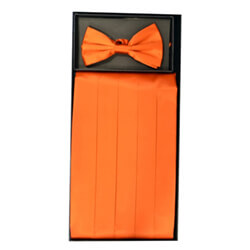 Orange Cummerbund Set