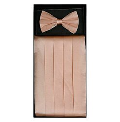 Peach Cummerbund Set