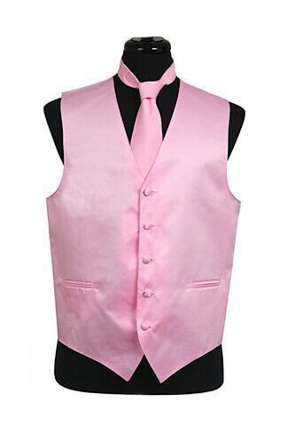 Pink Satin Vest
