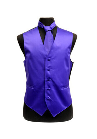 Purple Satin Vest