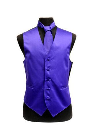 Purple Satin Vest