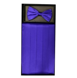 Purple Cummerbund Set