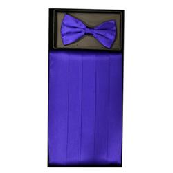 Purple Cummerbund Set