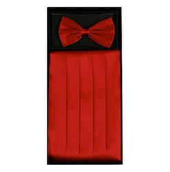 Red Cummerbund Set