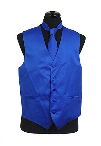 Royal Blue Satin Vest