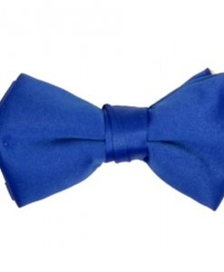 Royal Blue Satin Bowtie