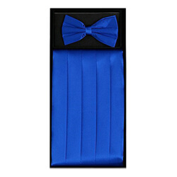 Royal Blue Cummerbund Set