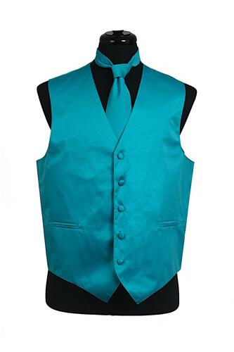 Turquoise Satin Vest