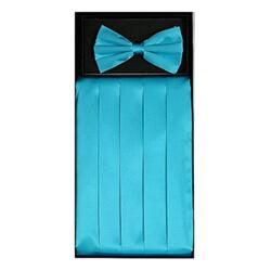 Turquoise Cummerbund Set