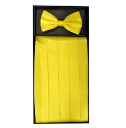 Yellow Cummerbund Set