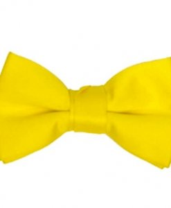 Yellow Satin Bowtie