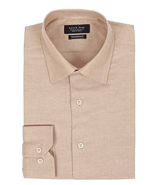 Azar Suits Beige Shirt