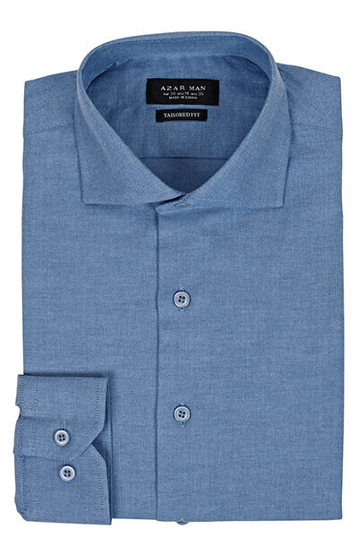 Azar Suits Ocean Blue Extra Spread Shirt