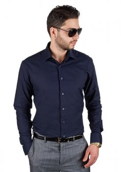 Azar Suits Navy Blue Shirt