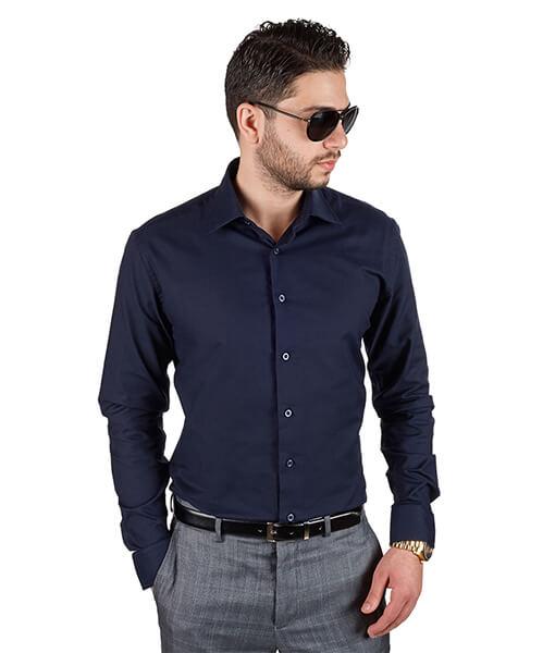 Azar Suits Navy Blue Shirt