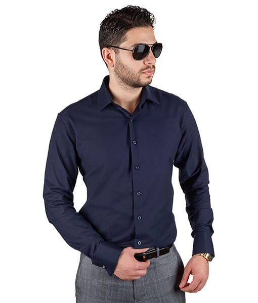 Navy Blue Dress Shirt