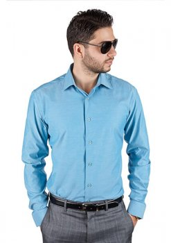 Azar Suits Ocean Blue Shirt