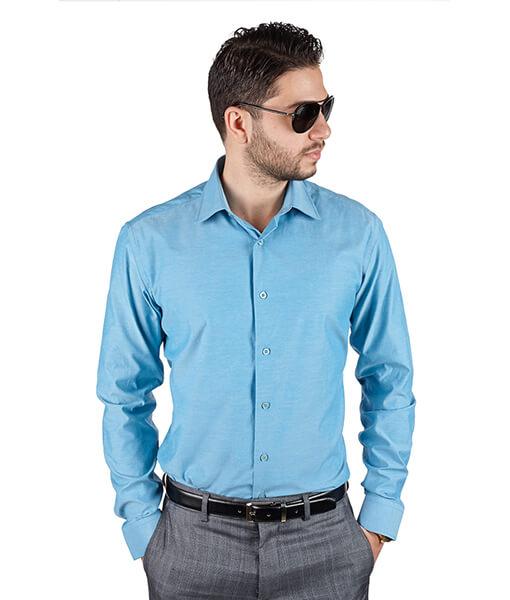 Azar Suits Ocean Blue Shirt
