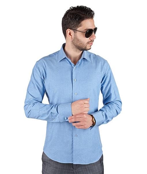 Azar Suits Ocean Blue French Cuff