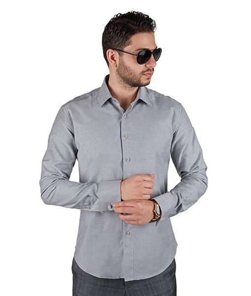 Azar Suits Grey French Cuff