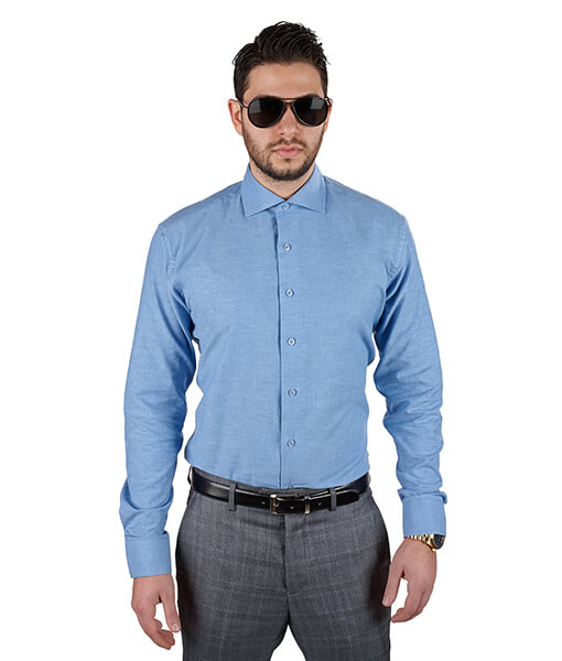 Azar Suits Ocean Blue Extra Spread Shirt
